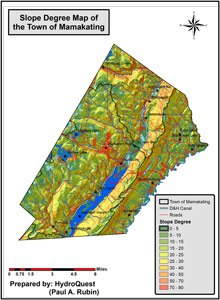 Sample GIS work in the Hudson Valley